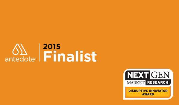 Next Gen market Research Disruptor Innovator Award 2015 Finalist